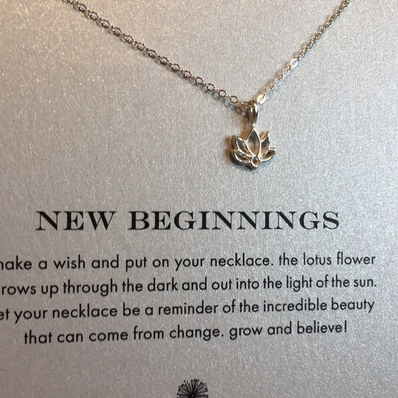 Dogeared Jewelry Sterling Lotus New Beginnings Necklace Poshmark